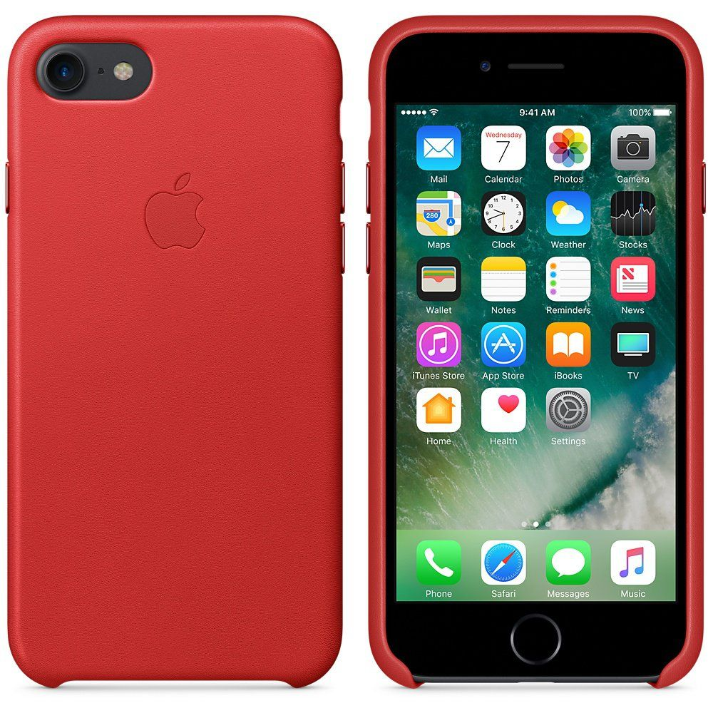 Apple iPhone 7 Leather Case Red, картинка 2