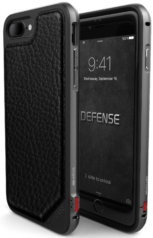 X-DORIA iPhone 7 Defense Leather - Black, картинка 1
