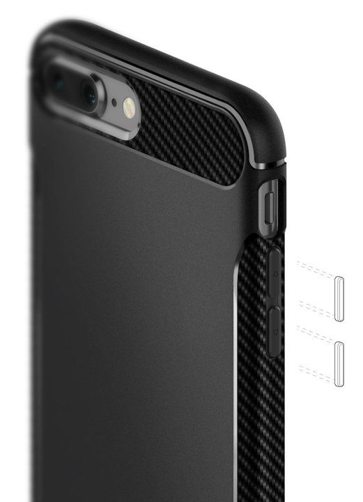 Caseology iPhone 7 Plus Vault Carbon - Black, картинка 2