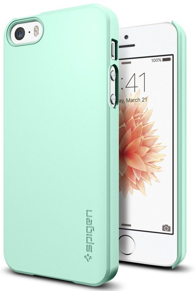 SGP  iPhone 5S/SE Thin Fit Mint, картинка 1