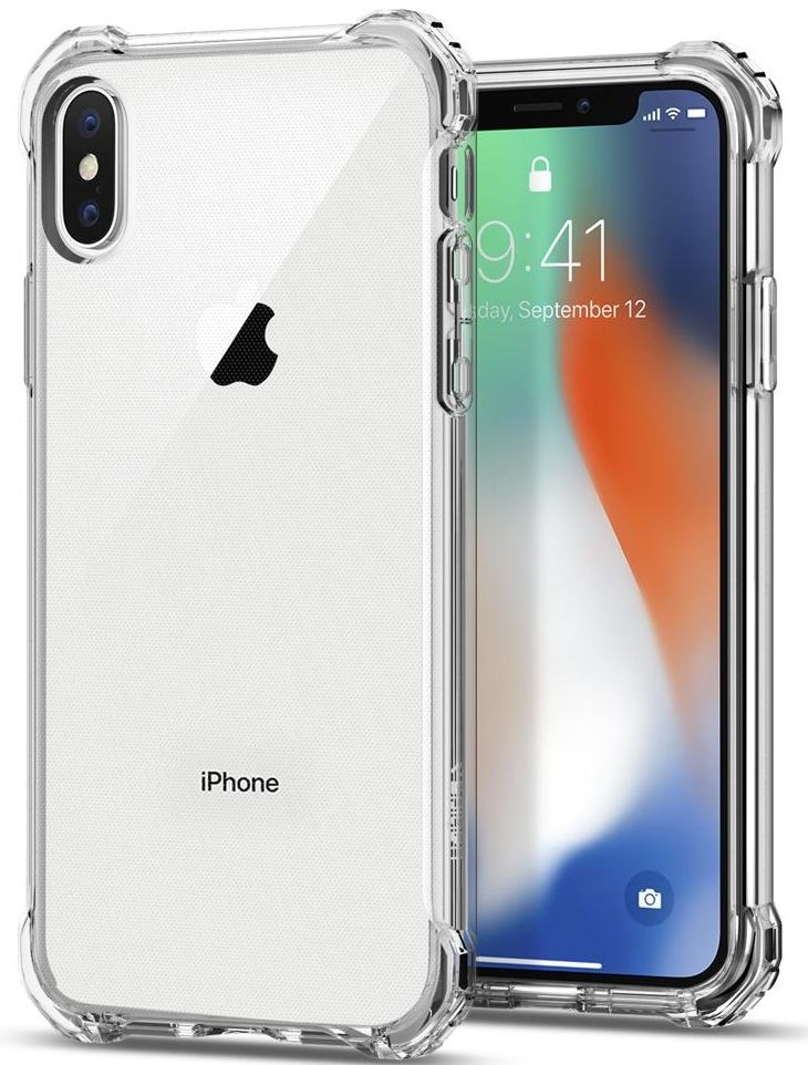 SGP Чехол iPhone X Rugged Crystal Crystal Clear