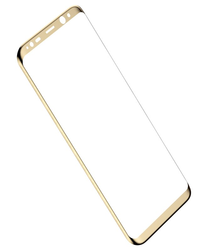 Защитное стекло MAHAZA 3D Tempered Glass Galaxy S8  - Gold, слайд 3