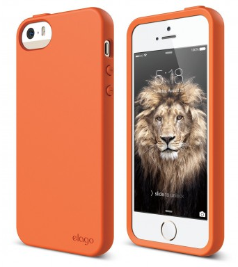 Чехол Elago для iPhone 5S/SE Flex Hard TPU оранжевый