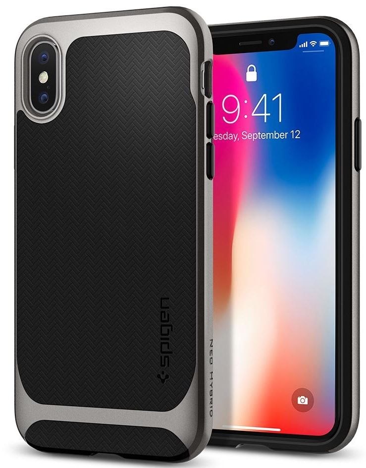 SGP Чехол iPhone X Neo Hybrid Gunmetal