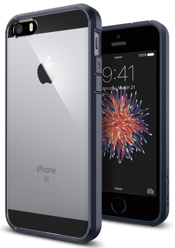 SGP  iPhone 5S/SE Ultra Hybrid - Metal Slate