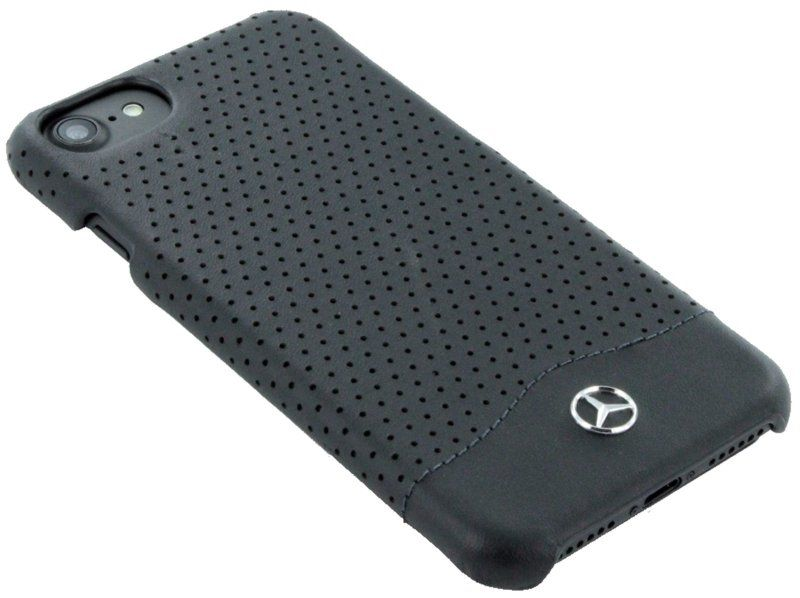 Mercedes WAVE II iPhone 7 Plus Leather Perforated Hard Case Black, картинка 3
