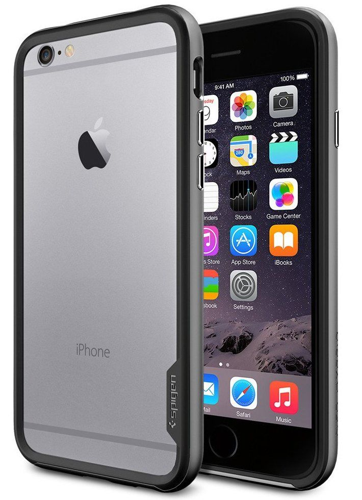 Чехол SGP iPhone 6 Neo Hybrid EX Metal Satin Silver