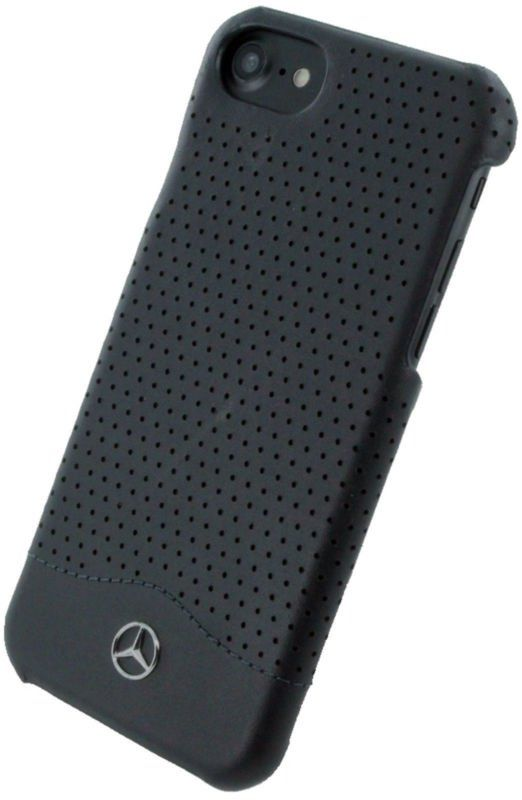 Mercedes WAVE II iPhone 7 Plus Leather Perforated Hard Case Black, картинка 2