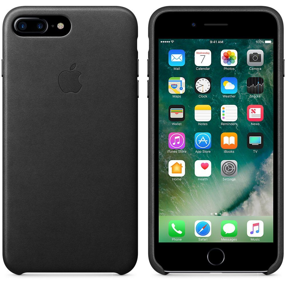 Apple iPhone 7 Plus Leather Case Black, картинка 2