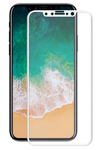 iPhone X 3D Tempered Glass White