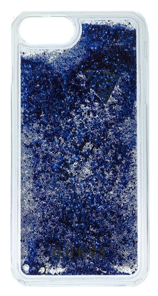 Guess iPhone 7 Liquid Glitter Hard  Blue, картинка 1