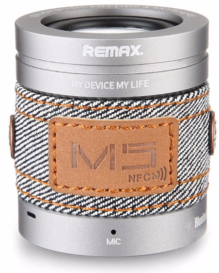 REMAX Bluetooth Speaker RB-M5 - Silver, картинка 1