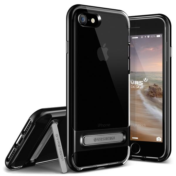 VERUS Чехол iPhone 7 Crystal Bumper Jet Black, картинка 1