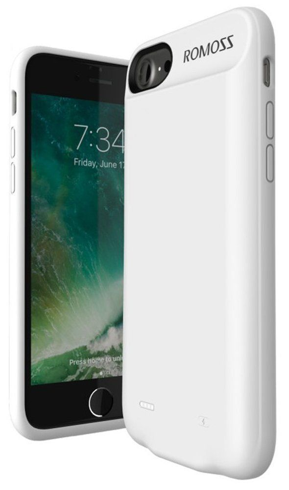 ROMOZZ  iPhone 7 Battery Case 2800mA - White