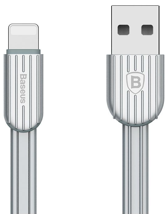 BASEUS Travel Lightning Cable 1m - Silver, картинка 1