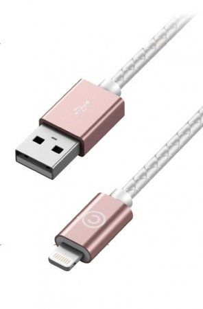 LAB.C Sync Charge Lightning Leather Cable 1.8m - Rose Gold, картинка 2