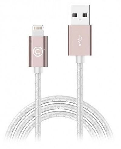 LAB.C Sync Charge Lightning Leather Cable 1.8m - Rose Gold