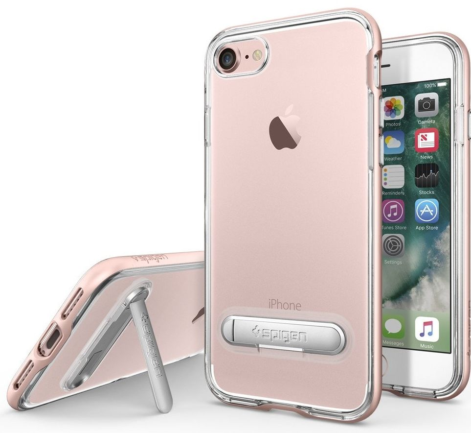 SGP Чехол iPhone 7 Crystal Hybrid Rose Gold, картинка 1