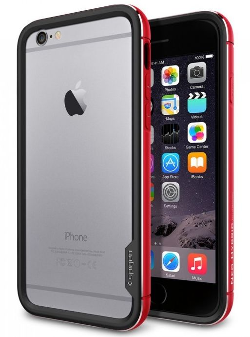 Чехол SGP iPhone 6 Neo Hybrid EX Metal Metal Red