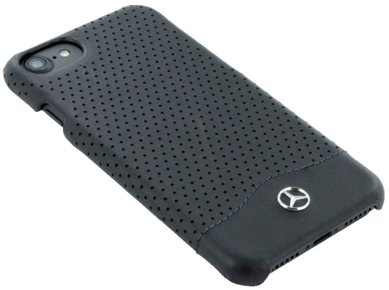 Mercedes WAVE II iPhone 7 Leather Perforated Hard Case Black, картинка 3