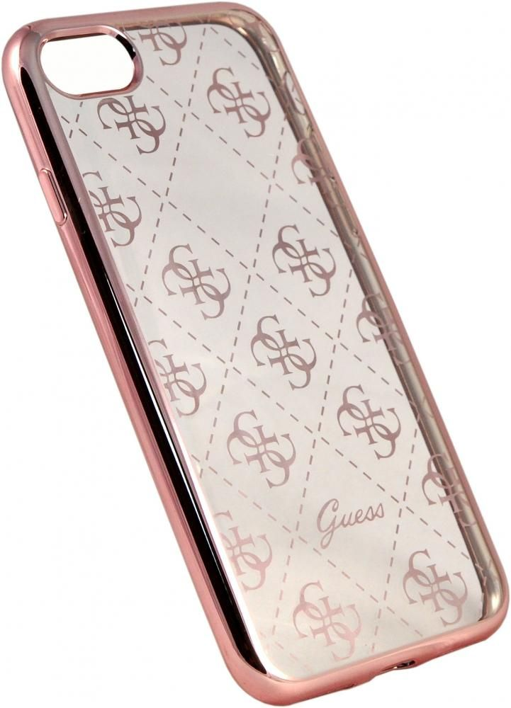 Чехол Guess iPhone 7 Clear Hard TPU Case - Rose Gold, картинка 2