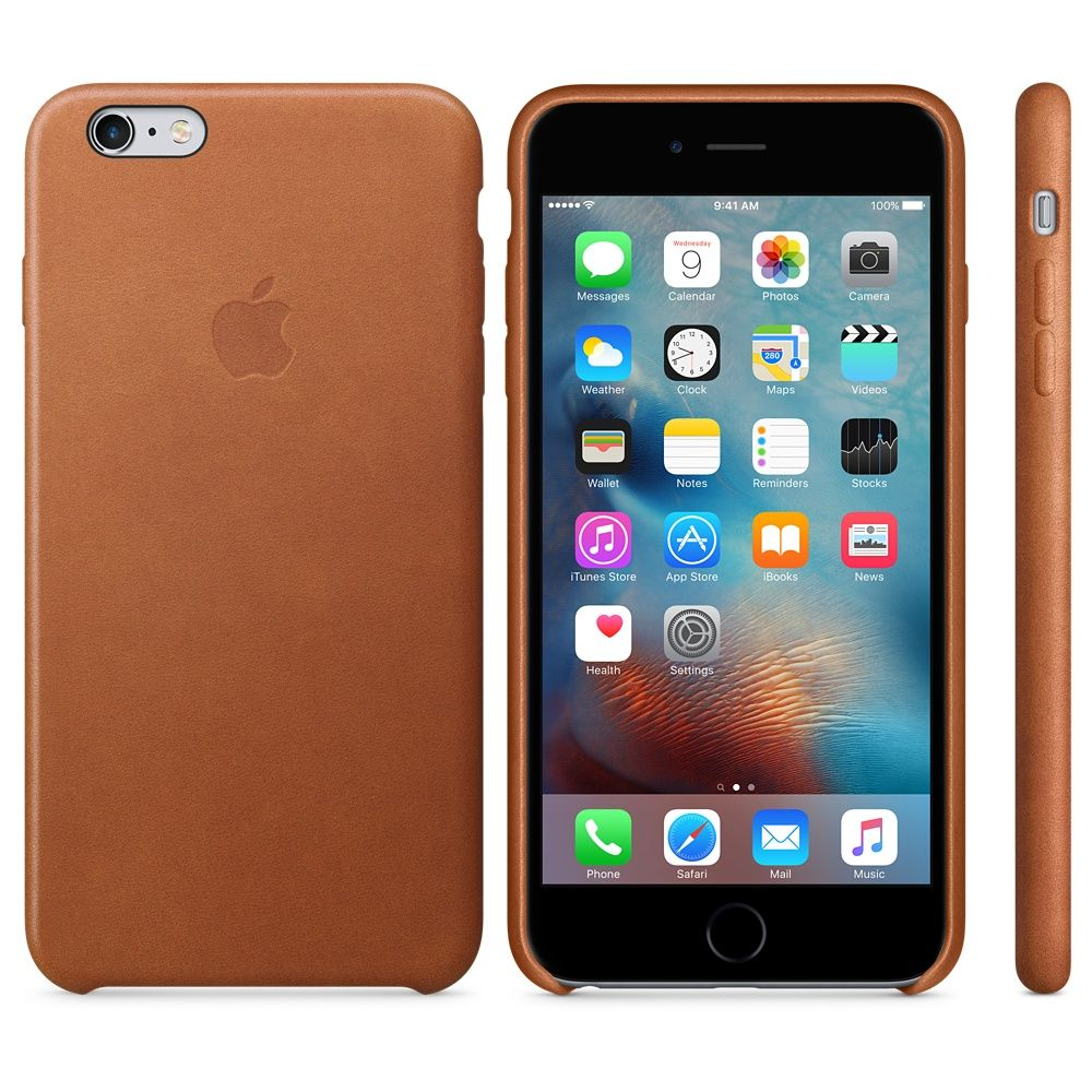 Apple iPhone 6 Plus Leather Case - Brown, картинка 2