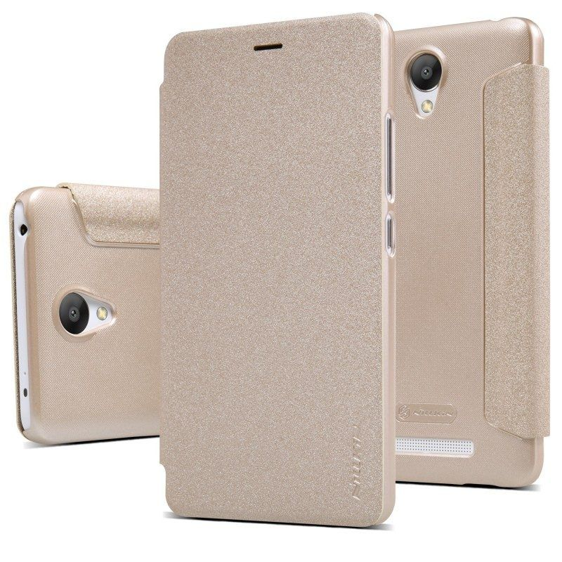 Nillkin Sparkle Leather case Xiaomi Note 3 - Gold, картинка 3