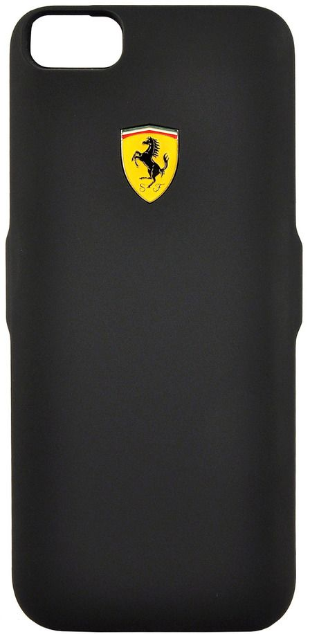 Чехол Ferrari iPhone 7 Plus Powercase 4000 mAh - Black, картинка 1