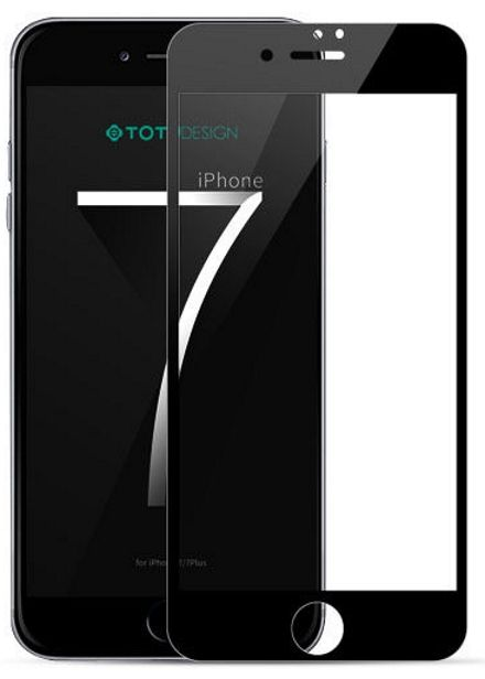 TOTU 3D Tempered Glass iPhone 7 HD Clear Black, картинка 1