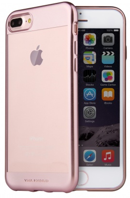 VIVA iPhone 7 Plus Metalico Borde Case TPU Rose Gold, картинка 2