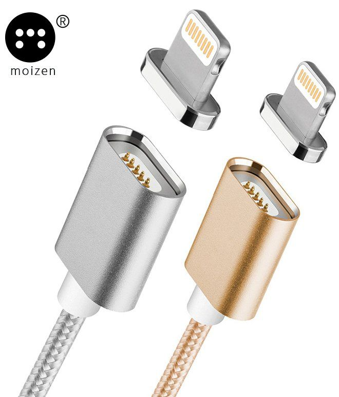 Moizen Magnetic Charging Cable Lightning - Gold, картинка 3
