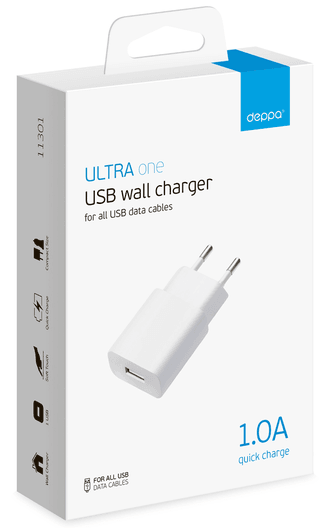Deppa USB Wall Charger 1.0A, картинка 2