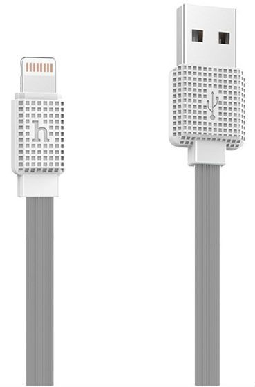 HOCO UPL18 Waffle Lightning Cable 120cm - Gray