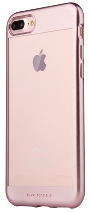 VIVA iPhone 7 Plus Metalico Borde Case TPU Rose Gold, картинка 1