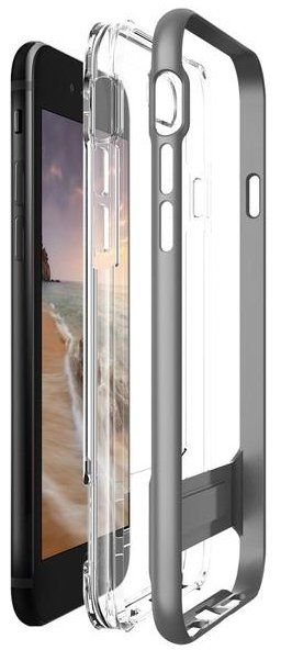 VERUS Чехол iPhone 7 Crystal Bumper Steel Silver, картинка 3
