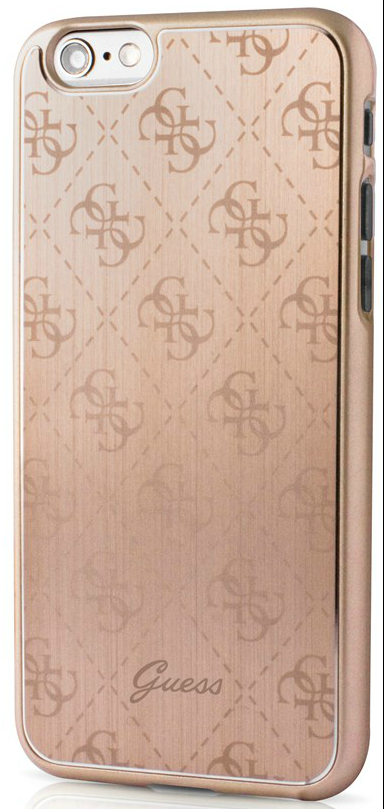 Чехол Guess iPhone 6/6S Aluminium Plate Hard - Rose Gold