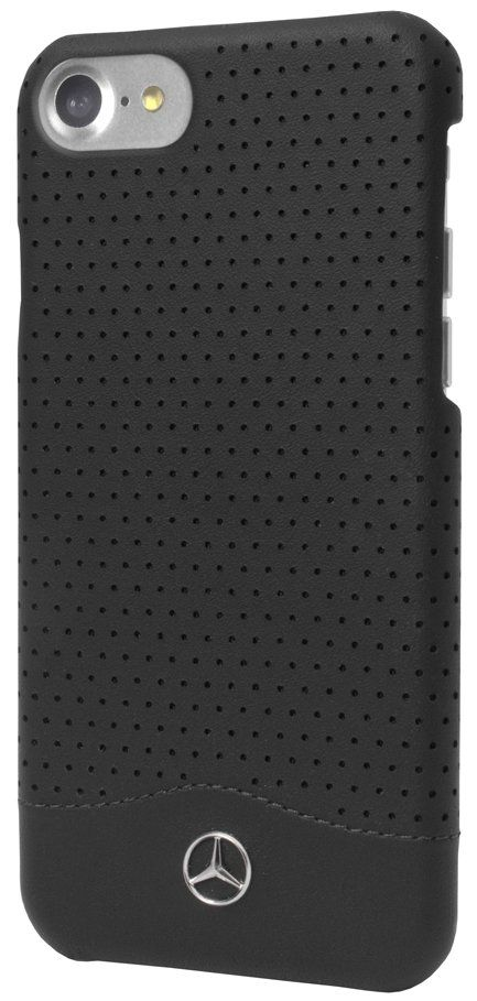 Mercedes WAVE II iPhone 7 Plus Leather Perforated Hard Case Black