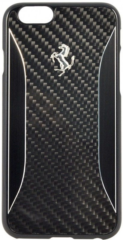Чехол Ferrari iPhone 6/6S GT Experience Hard Carbon Aluminium - Black