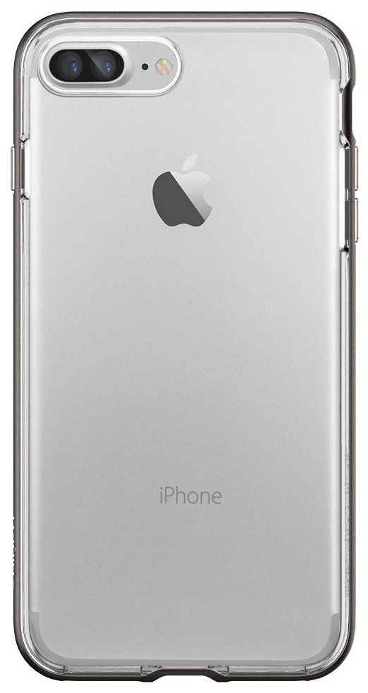 SGP Чехол iPhone 7 Plus Neo Hybrid Crystal Gunmetal, картинка 3