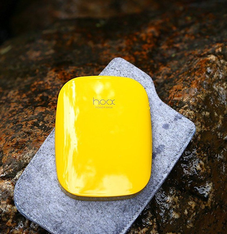 Hoox Magic Stone 6000mAh 2 USB - Yellow, картинка 4