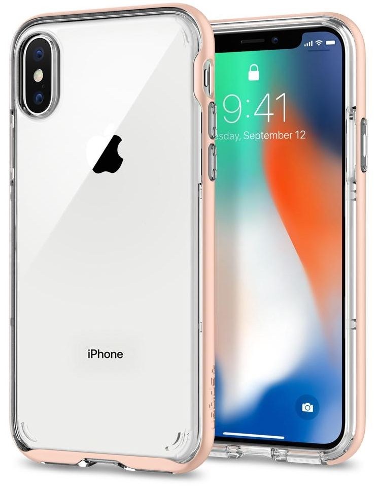 Чехол SGP iPhone X Neo Hybrid Crystal Blush Gold