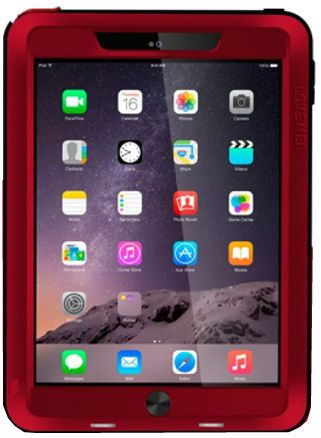 Love Mei Powerfull iPad Air 2 Metall Case - Red, картинка 1