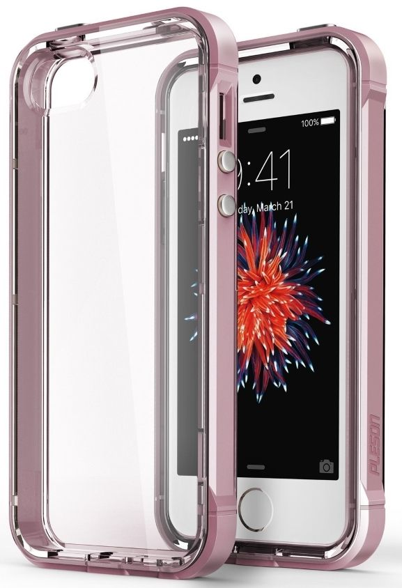 Pleson iPhone 5S/SE ISE Case - Clear/Pink, картинка 1