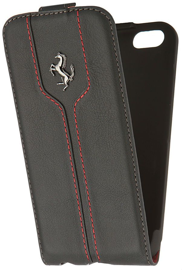 Ferrari iPhone 6 Montecarlo Flip Case - Black, картинка 3