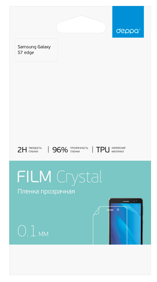 Deppa Screen Film Crystal Samsung S7 EDGE  Clear