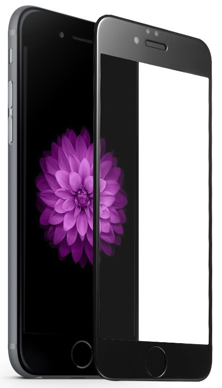 Tempered Glass 5D iPhone 6/6S - Black, картинка 1