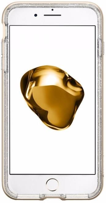 SGP Чехол iPhone 7 Plus Crystal Hybrid Glitter Gold Quartz, картинка 3