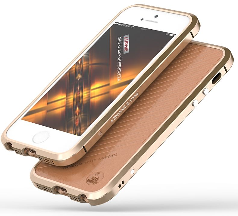 Luphie iPhone 5S/SE Bumper - Gold, картинка 4