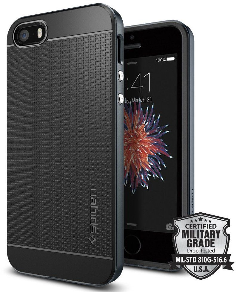 SGP  iPhone 5S/SE Neo Hybrid - Metal Slate