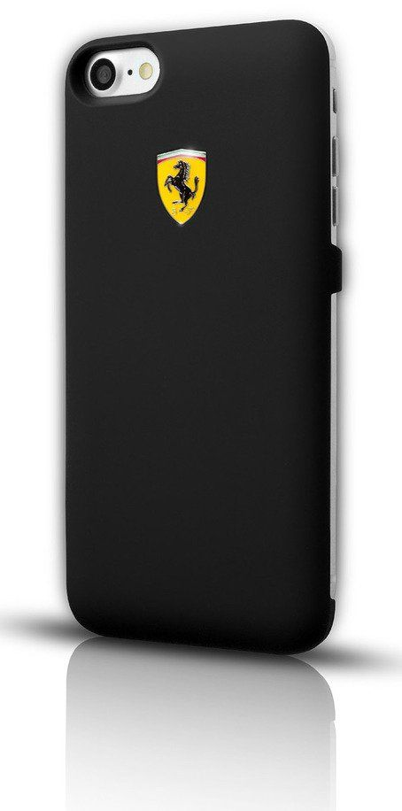 Чехол Ferrari iPhone 7 Plus Powercase 4000 mAh - Black, картинка 3